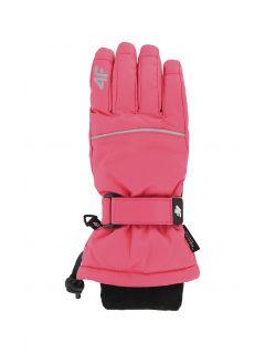 Lyžařské rukavice pro starší děti (holky) JRED402 – fuchsiové