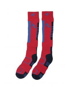 Lyžařské ponožky pro starší děti (kluky) JSOMN401– červené