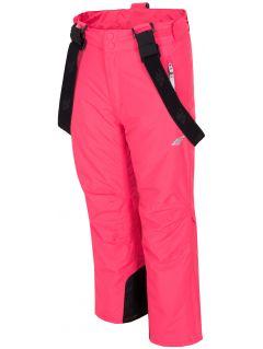 Lyžařské kalhoty pro starší děti (holky) JSPDN401 – fuchsiové