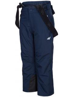 Lyžařské kalhoty pro mladší děti (kluky) JSPMN300 – tmavě modré