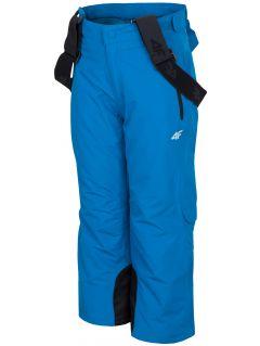 Lyžařské kalhoty pro mladší děti (kluky) JSPMN300 – kobaltové