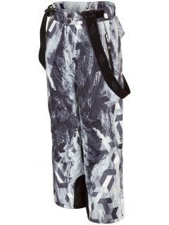 Lyžařské kalhoty pro starší děti (kluky) JSPMN401 - multibarevný allover