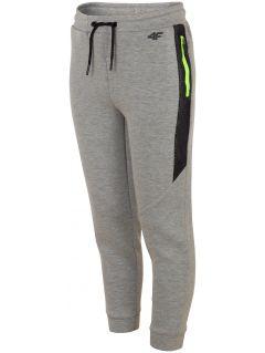 Sportovní kalhoty pro starší děti (kluky) JSPMTR401 - světle šedý melír