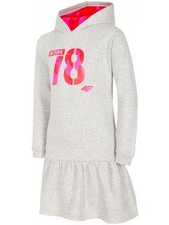 Šaty pro starší děti (holky) JSUDD208 - chladný světle šedé