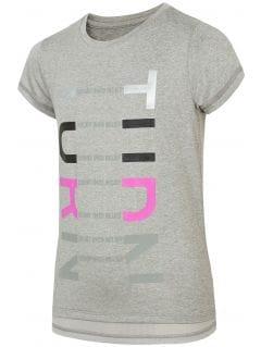 Sportovní tričko pro mladší děti (holky) JTSD401 - chladný světle šedý melír