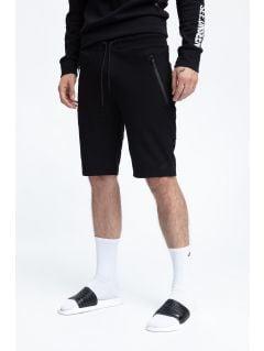 Pánské teplákové šortky SKMD200 - hluboké černé