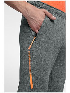 Pánské tréninkové kalhoty SPMTR201 - středně šedý melír
