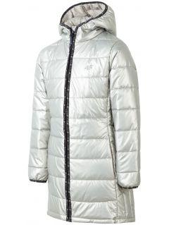 Péřová bunda pro starší děti (holky) JKUDP203 – zlatá