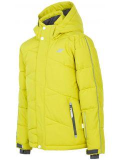 Lyžařská bunda pro starší děti (kluky) JKUMN400 – šťavnaté zelené