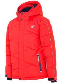 Lyžařská bunda pro starší děti (kluky) JKUMN400 – červená