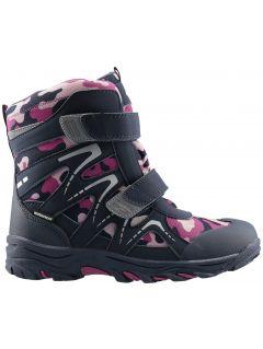 Zimní boty pro starší děti (holky) JOBDW406 - tmavě fialové