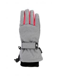 Lyžařské rukavice pro starší děti (holky) JRED402 - šedý melír