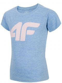 Tričko pro mladší děti (holky) JTSD101 - modrý melír