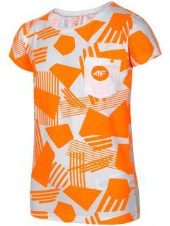 Tričko pro starší děti (holky) JTSD207A - neonově oranžové