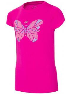 Sportovní tričko pro starší děti (holky) JTSD401A- tmavě růžové