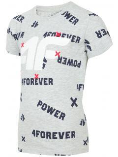 Tričko pro mladší děti (kluky) JTSM102 - chladný světle šedý melír