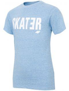 Tričko pro starší děti (kluky) JTSM200 - modrý melír