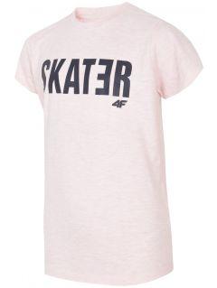 Tričko pro starší děti (kluky) JTSM200 - světle růžový melír