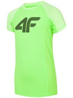 Sportovní tričko pro starší děti (kluky) JTSM401 - neonově šťavnaté zelené