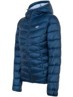 Dámská péřová bunda KUDP211 - tmavě modrá