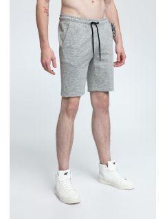 Pánské teplákové šortky SKMD301 - středně šedý melír