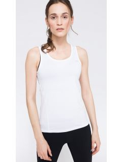 Dámské tréninkové tričko bez rukávů TSDF302 - bílá