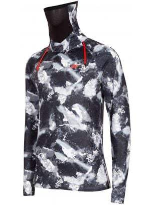 Pánské bezešvé prádlo (horní část) BIMD250G - černý allover
