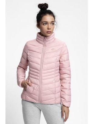 Dámská péřová bunda KUDP210 - světle růžová