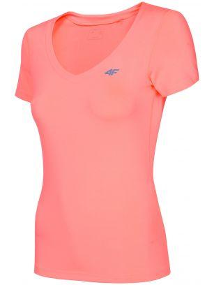Dámské tréninkové tričko TSDF300 - neonově lososové