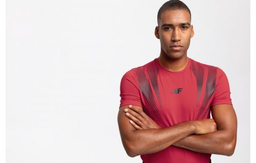 Pánské tréninkové tričko TSMF204 – červené