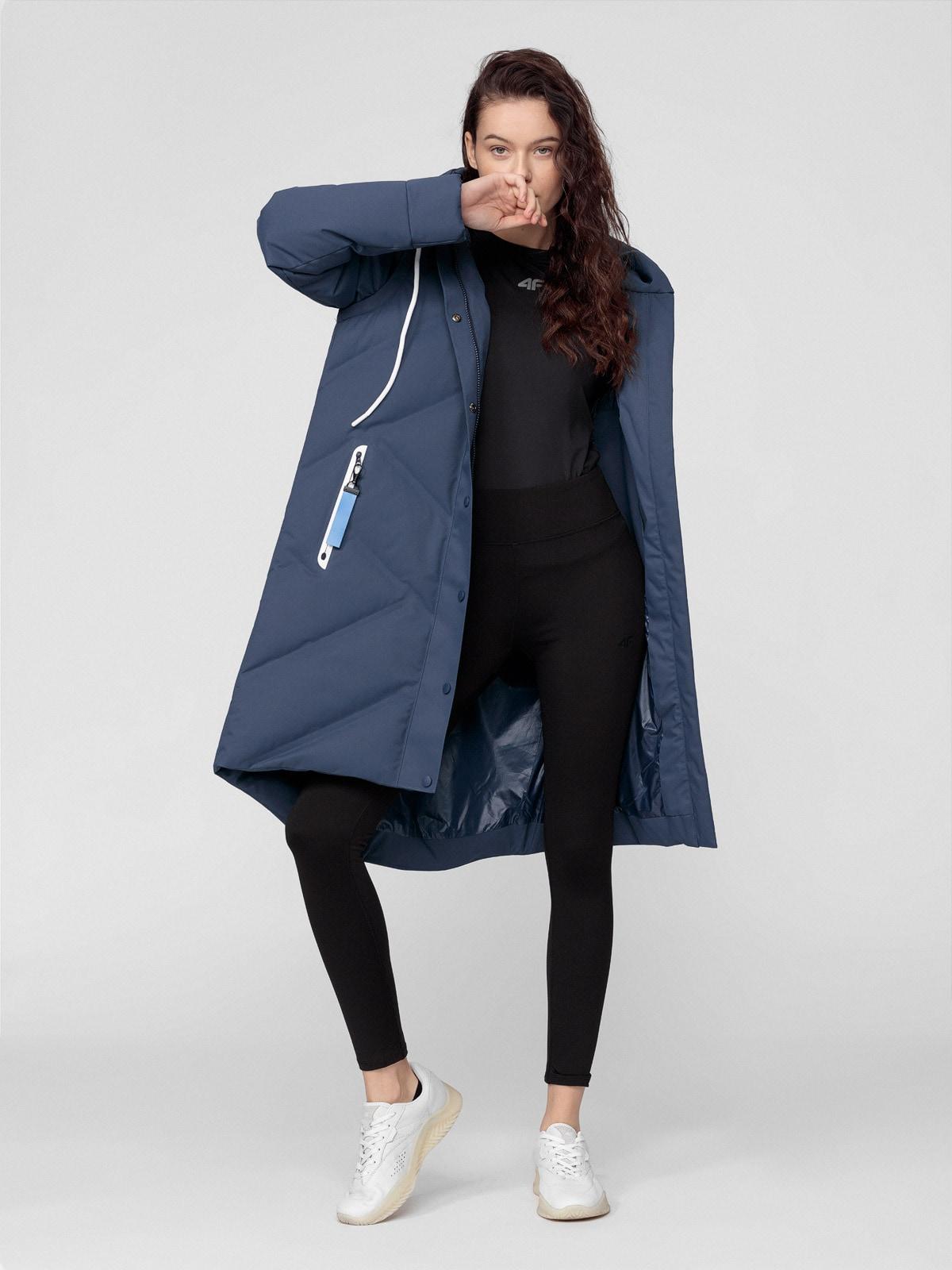 Dámský péřový kabát 2v1